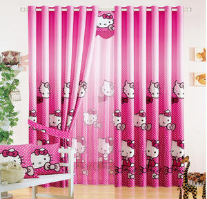 Babson Girl Child Pink Hotel Curtains Hello Kitty