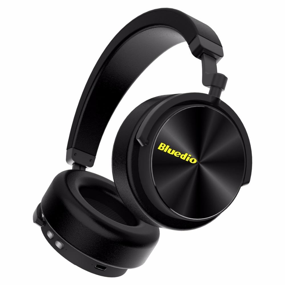 Bluedio T/5 cuffia bluetooth Active Noise Cancelling cuffie con microfono per cellulari e musica auricolare