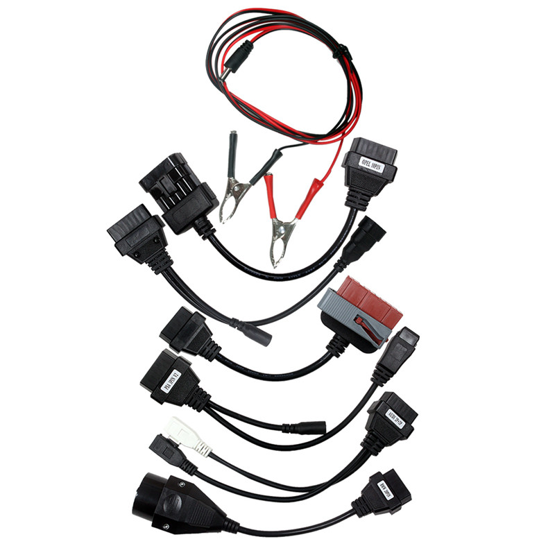 OBD2 OBDII Full Set Car Cables Scan 8 In 1 Car Adapter Diagnostic Tool Connector Cable For TCS CDP Pro Multidiag Pro MV Diag WOW