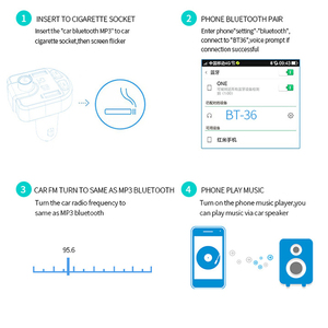 Image 5 - 12V Car MP3 Player Bluetooth USB Music FM Transmitter Handsfree LCD Cigarette Lighter MP3 Auto Charger Voltage Auto Accessories