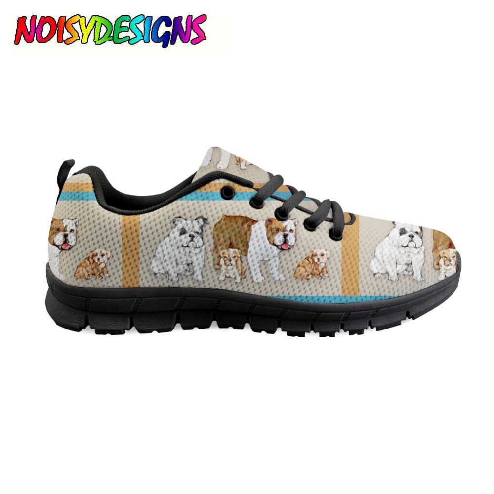 Women dog Pattern Shoes Flats Summer Fashion Casual Sneakers Shoes Women French bulldog Ladies Comfortable Zapatos Mujer Girls