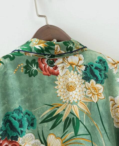 HTB1qi0bQXXXXXblXpXXq6xXFXXXd - Ethnic Flower Print with sashes Kimono Shirt Retro Tops blusas