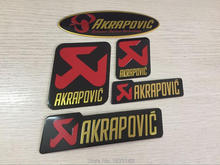 3D Aluminum Heat-resistant Aluminium Motorcycle Exhaust Pipes Decal Sticker For Scorpio Yoshimura Akrapovic 5 sizes
