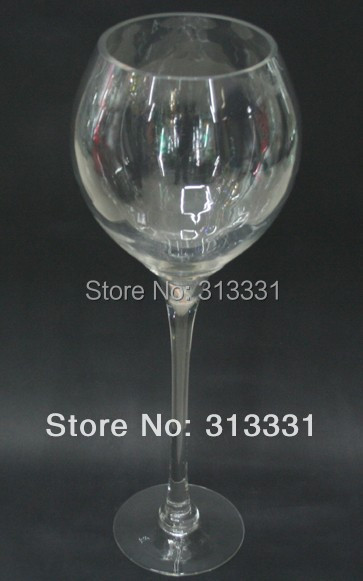 Tall Brandy Glass Vase Centerpiece Wedding Decoration Goblet On