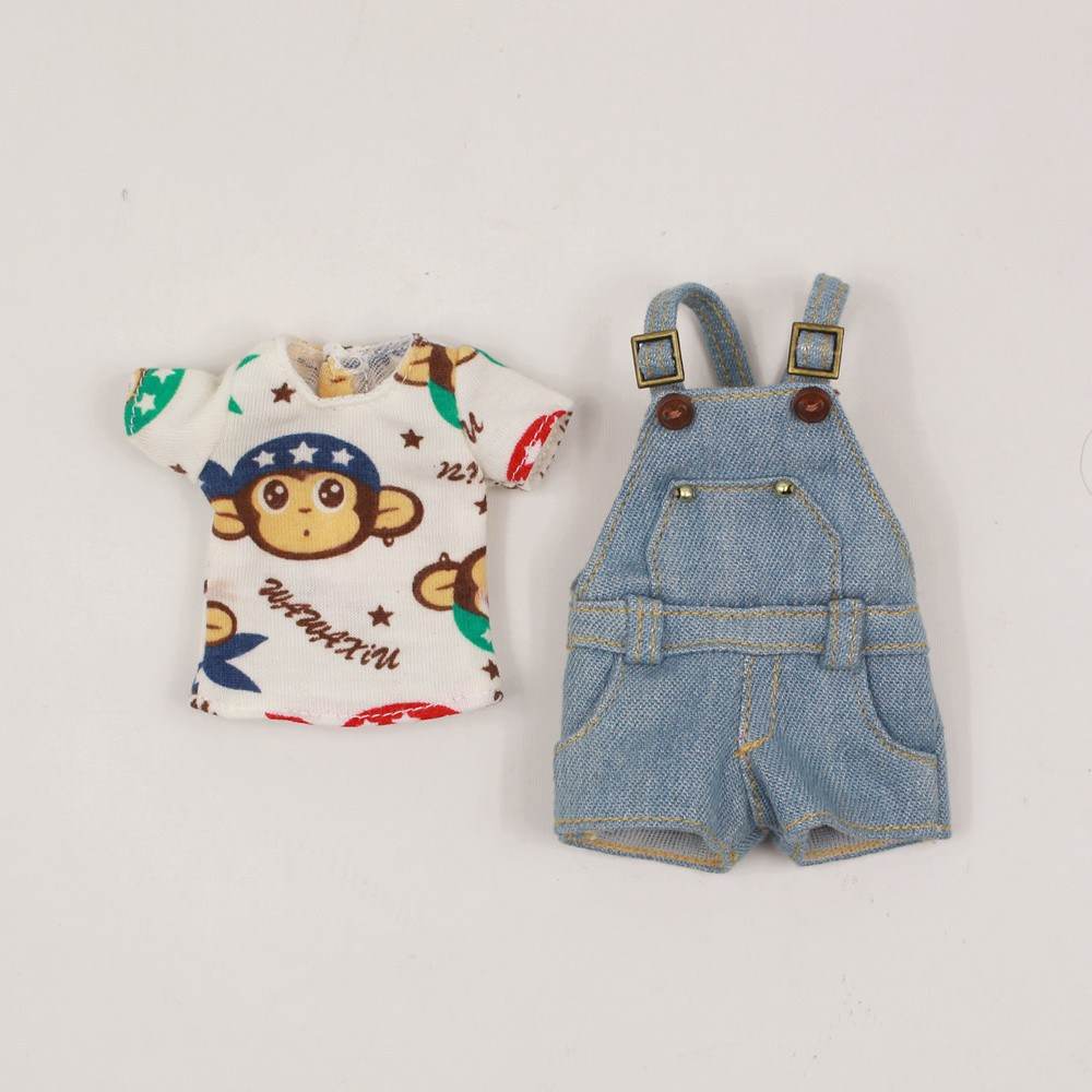Neo Blythe Doll Shirt With Casual Pants & Rompers Suit 4