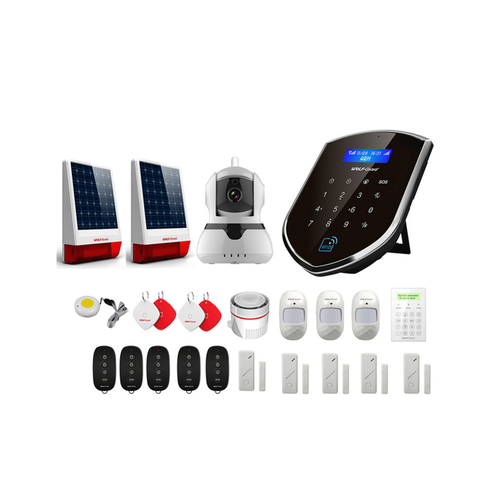 Wolf-Guard WM2GR GSM Wifi Wireless Home Security Alarm System DIY Kit APP Control Motion Detector Sensor Burglar Alarm System