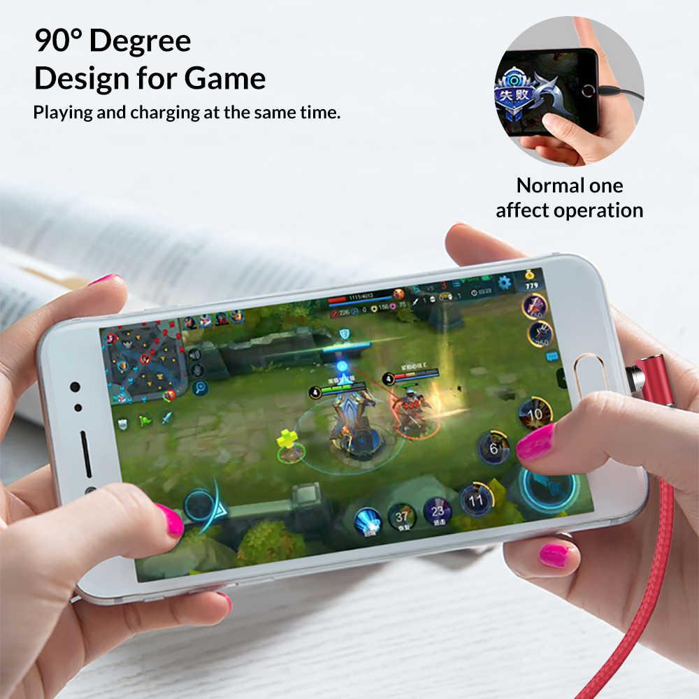5 V/2.1A 90 L-Line LED Magnetico Cavo di Ricarica per iPhone Samsung Xiaomi Huawei Micro USB Veloce IOS Cavo della Porta Non di Dati di Supporto