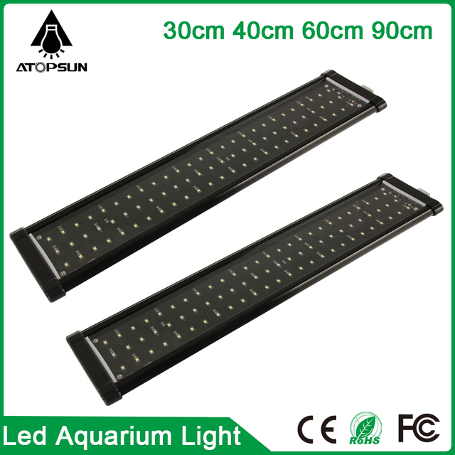 1pcs Freshwater Aquarium light Fish Tank SMD Led aquarium 30cm 40cm 60cm 90cm fish lamp Eu/Us Plug Marine Aquarium Led Lighting