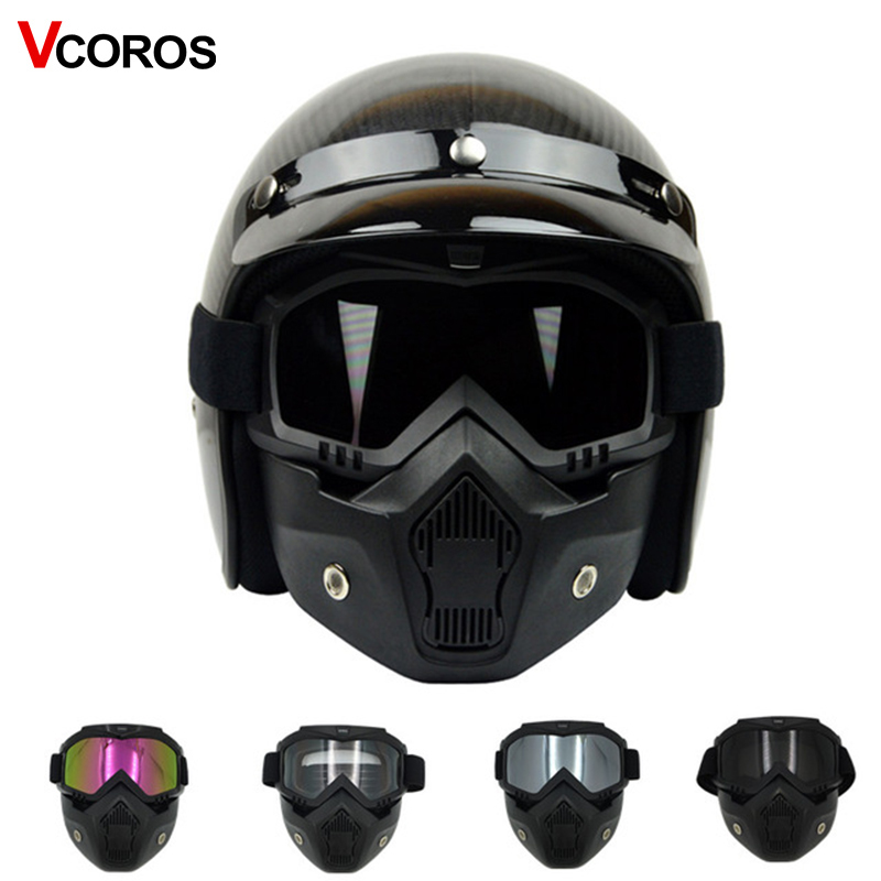 VCOROS Modular Mask Detachable font b Goggles b font And Mouth Filter Perfect for Open Face
