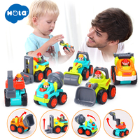 HOLA 3116C Baby Toys Construction Vehicle Cars Forklift, Bulldozer, Road Roller, Excavator, Dump Truck, Tractor Toys for Boy