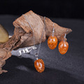 Прекрасный Orange Капли Воды Кристалл Ювелирные Наборы Кулон/Серьги В Комплект для Летию подарок Parure Бижутерии Femme