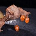 Precioso orange crystal water drop juegos de joyería colgante/pendiente por juego para regalo del aniversario envío parure bijoux femme