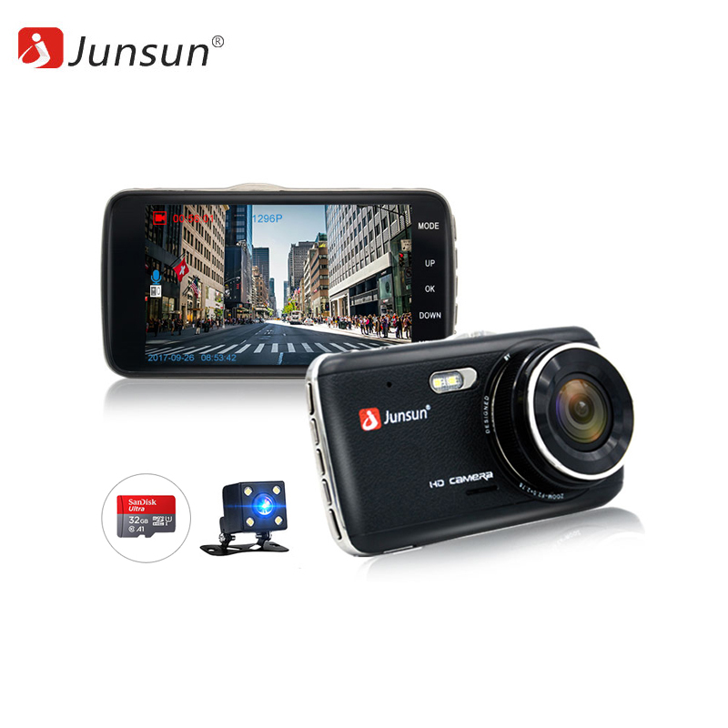 Dash camera Junsun H7.32GB 1080p car dash camera dvr with dual lens 4 screen