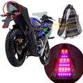 Abs da motocicleta traseira levou luz de freio luz traseira lâmpada traseira por sua vez a luz do sinal para yamaha r15 2014-2016 motocicleta iluminação integrada