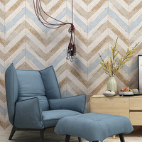 Nordic Vintage Wood Grain Wallpaper Living Room TV Background Wall Decor Bedroom Dining Room Non woven Wallpaper Wall Covering