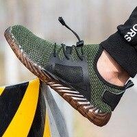 2019 г., нестираемая Мужская обувь со стальным носком, безопасная обувь на каждый день, прокалываемые рабочие кроссовки, дышащая обувь