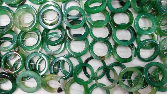 Maior 30 mm 50 mm vertente cheia natural ágata onyx oval redondo laço círculos Donut pedra verde amarelo vermelho branco preto mistura de esferas colar