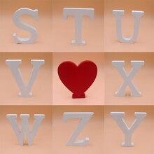 15 cm A-Z Ahşap Beyaz İngilizce Harfler Süsler Dekorasyon El Sanatları Ahşap Aşk Mektubu Düğün Dekoratif Numaraları Ev Odası Ote...