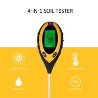 4 In 1 Digital Soil Ph Meter Moisture Soil PH Tester Temperature Sunlight Intensity Measurement Analysis