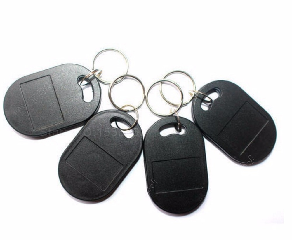 Free Shipping 100pcs lot RFID T5577 125KHz tag electronic Keyfob keychain programmable Rewritable Access Control T5577