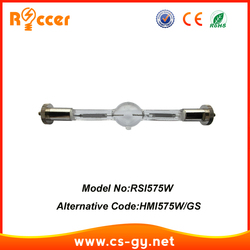 Roccer hmi 575 تتحرك رئيس hmi575w لمبة 95 فولت/gs لمبة hmi575 مرحلة 6000 كيلو 750 ساعة hmi 575 واط