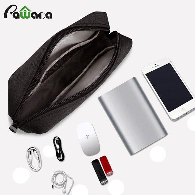 Простой дизайн путешествия водонепроницаемый органайзер для хранения тканевый USB кабель сумка портативный Электроника сумка цифровое устройство сумочка