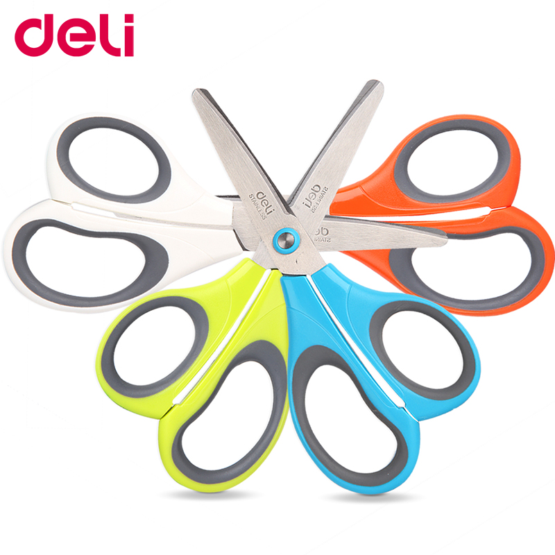 Deli Utility Knife 1 Pcs Per Set Stainless Steel Color Random Delivery Colorful Scissor School And Office Supplies Fashionable