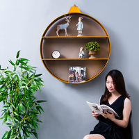 Personalized Industrial Wind Wall Hanging Decorative Cabinet Living Room Wall Decoration Iron Rack Big Pendant