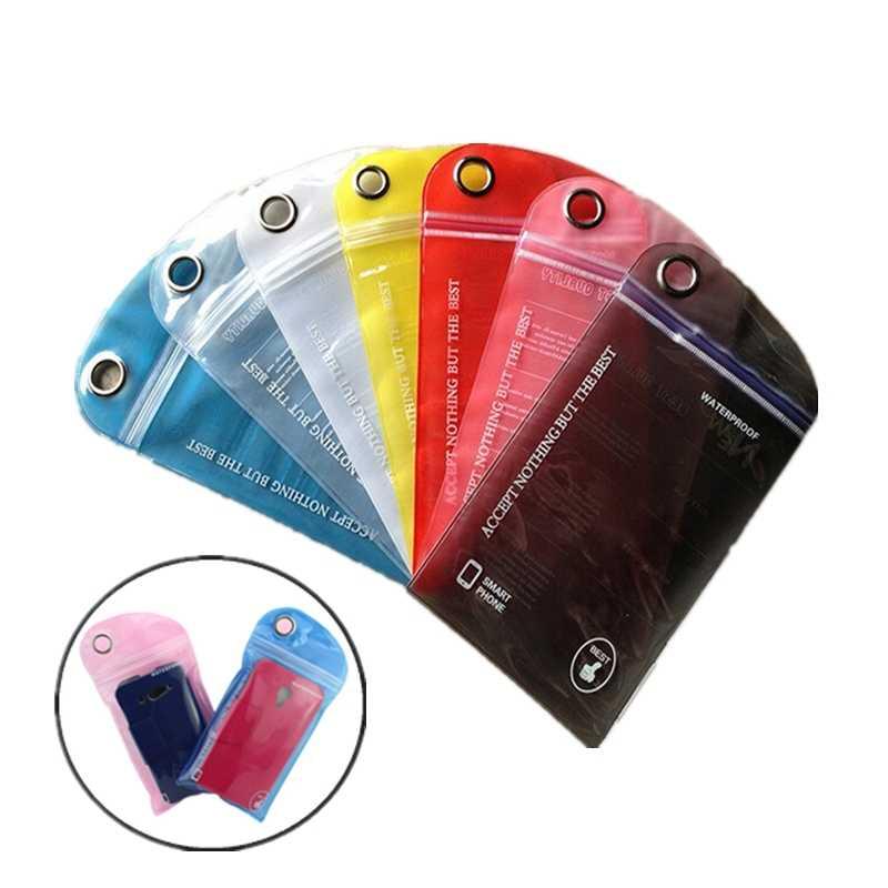 1/5Pcs Tahan Air Tas Renang Surfing Outdoor Arung Jeram Melayang Kartu Telepon Warna-warni Tas untuk Ponsel ID Card ponsel
