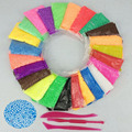 24 Colors Pearls Foam Play Doh Modeling Clay Magic Plasticine Fimo Polymer Clay Playdough Children's Educational Toys 715