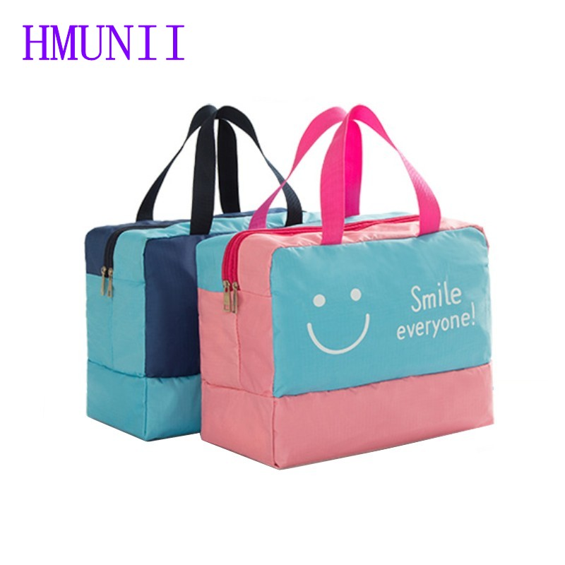 HMUNII New Fashion Travel Large Capacity Beach Bags Dry And Wet Separated Men Women Waterproof Handbag Storage Bag Organizer high quality authentic famous polo golf double clothing bag men travel golf shoes bag custom handbag large capacity45 26 34 cm