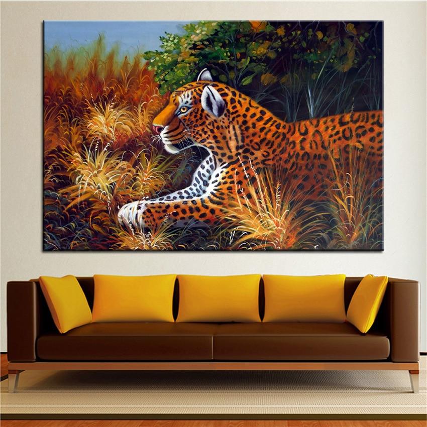 Wall Art, Wall Decor, Wall Painting Cheetah Digital oil Painting ...
