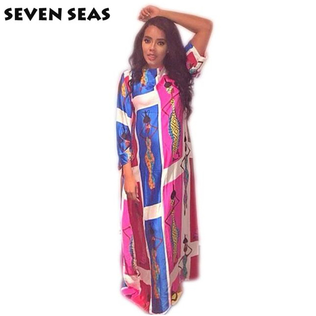 af53c8ca049 Hot Sale Women Traditional African Print Dashiki Maxi Long Dress African  Clothing for Lady
