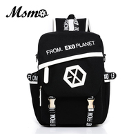 2016 New Kpop EXO Canvas Backpack Sacks Women Men Student School Bags For Girl Boy Casual