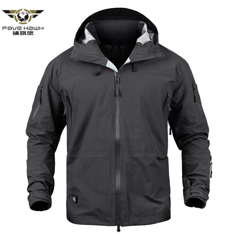 Coquille dure militaire tactique veste hommes imperméable Camouflage armée veste nouveau 2018 printemps sweat à capuche poche coupe-vent manteau de pluie