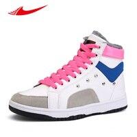 Beita Winter Lovers Skateboarding Shoes Warm High Top Male Sneakers Plus Velvet White Shoe Men Women
