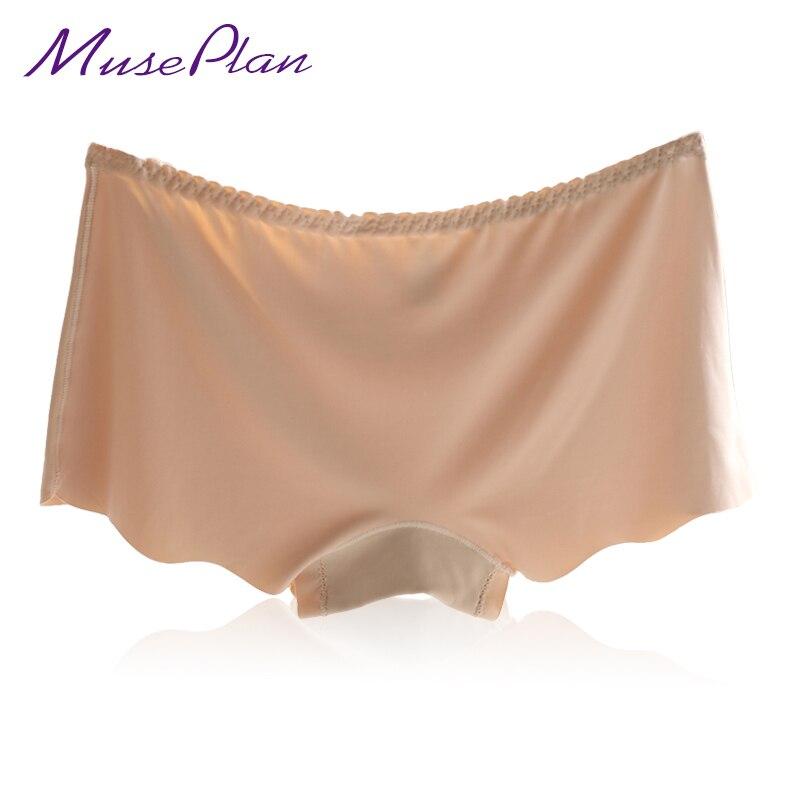 Hot Sale nové sexy kalhotky pro ženy spodní prádlo bezešvé kalhotky Boyshort ledové hedvábí bezpečnostní kalhotky plus velikost zdarma