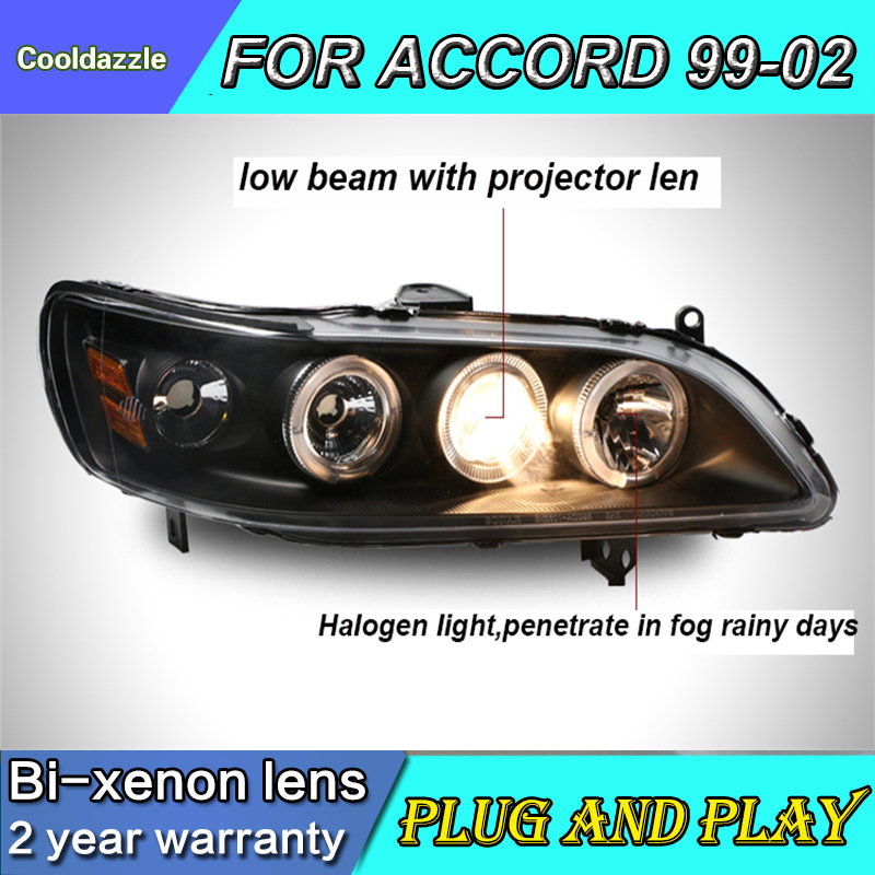 Car Styling Case For Honda Accord Led Headlights Front Lamps 1998 1999 2000 2001 2002 Year Car For Accord Xenon Light Hid Kits Car Light Assembly Aliexpress