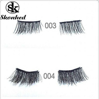 SKONHED 2 Pairs/Set Soft Natural Reusable 3D Magnetic False Eyelashes Extensions Tools Invisible Eye Lashes Makeup Tools False Eyelashes