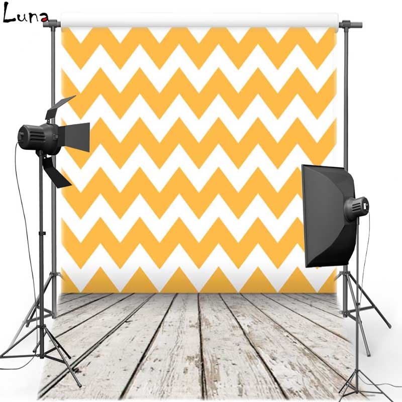 MEHOFOTO Wood Floor Vinyl Photography Background For Wedding Yellow Chevron New Fabric Flannel Background For Photo Studio 825