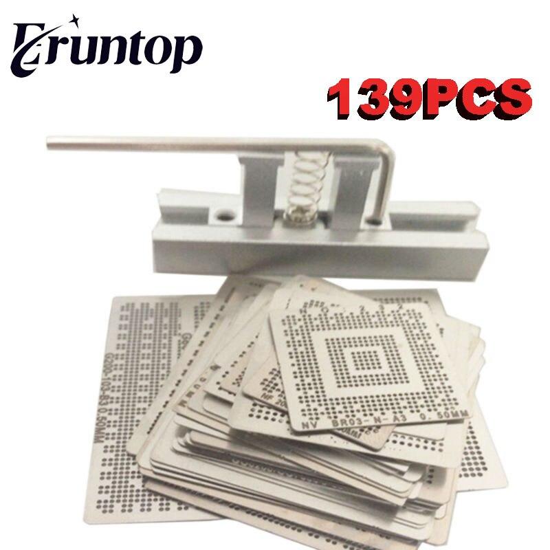 for Laptop 139PCS 550PCS 320PCS Bga Reballing Stencil Template Steel Mesh Kit with Reball Station latest laptop xbox ps3 bga 170pcs template bga kit 90mm for chip reballing