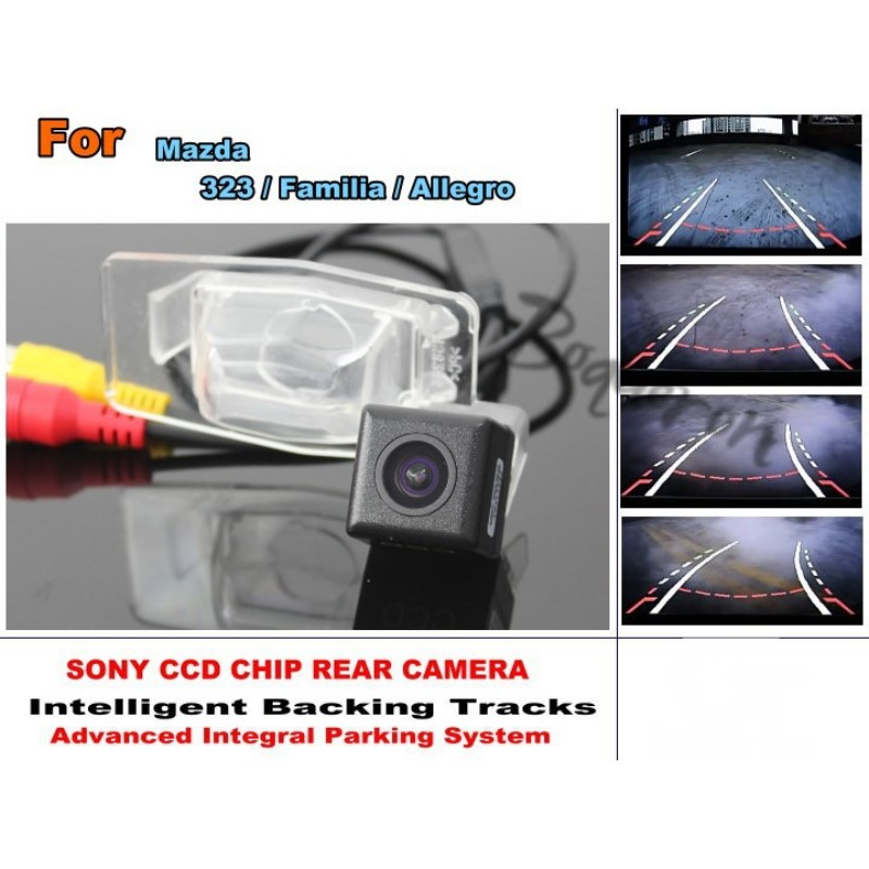For Mazda 323 / Familia / Allegro Smart Tracks Chip Camera / HD CCD Intelligent Dynamic Parking Car Rear View Camera for renault duster 2010 2014 smart tracks chip camera hd ccd intelligent dynamic parking car rear view camera