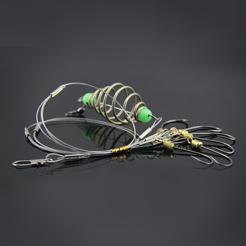 Hot Sale!!!1piece string hook High quality Capture off ability fishing hook explosion hook fishing lure tackle box