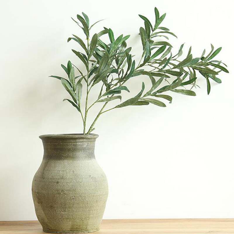 20 Pcs 103cm Artificial Plants Olive Tree Branches Leaf Home Decoration Accessories European Olive Leaves for Hotel and Wedding - 2