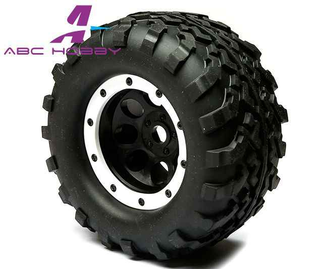 HPI Racing SAVAGE 4.6 5.9 Big F 1/8 Schaal Off-Road Buggy tire set RC Kyosho, Mugen, Losi, M Proline, AKA, 17mm zwart 2 STKS paar