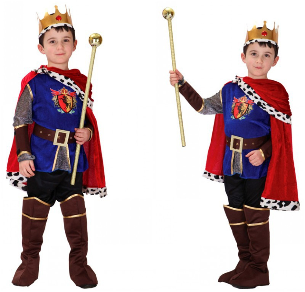 Hot Sale Boys Carnival Cosplay Pageant The King Costume for Children Fantasia Costumes Children's Day Kids Boys Prince Clothes kids boys pilot costume cosplay halloween set for children fantasia disfraces game uniforms boys military air force jumpsuit