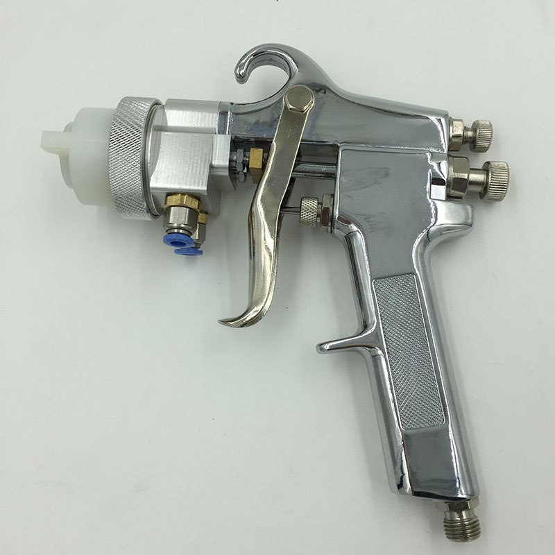 SAT1182 Nano Chrome Spray System Paint Guns Professional Spray On Chrome Double Nozzle Spray Gun стоимость