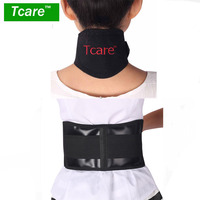 Tcare Self Heating Tourmaline Set Neck Support Protector Waist Belt Brace Tourmaline Magnetic Therapy