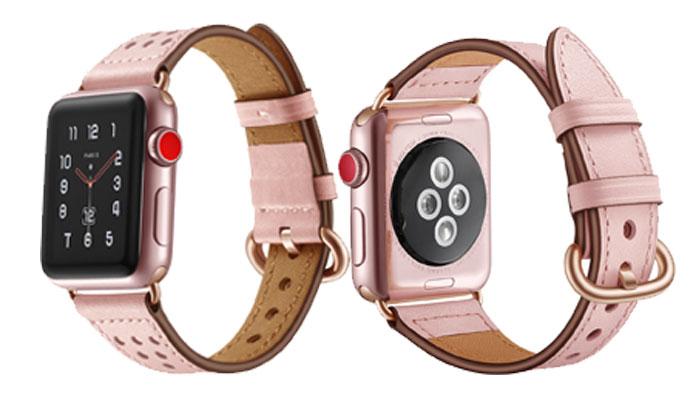 Bracelet de montre en cuir véritable pour apple watch 4 bande 44mm 42mm 38mm ceinture bracelet de haute qualité pour iwatch series 4/3/2/1 40mm