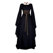 Free Shipping Cosplay Black 6 Colors Victoria Witches Lady Vampire Ghost Queen Fancy Dress